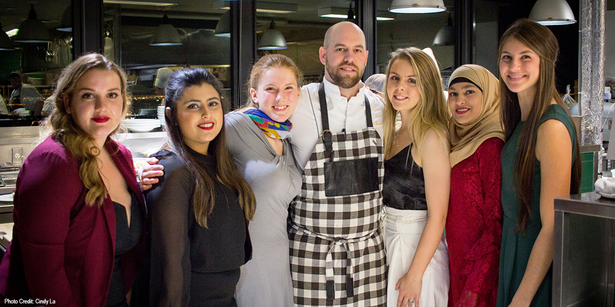 DC students win student series competition hosted by Canoe Restaurant.