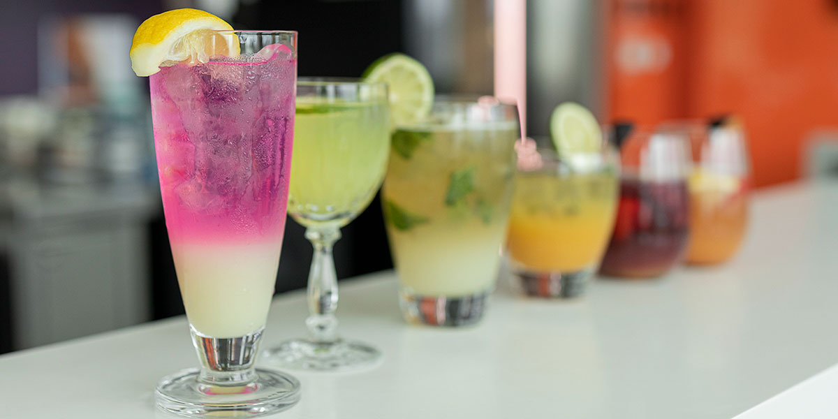 Selection of Cocktails featured in the Summer 2019 menu.